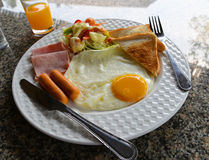 Breakfast. A typical American hearty breakfast Stock Images