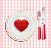 Breakfast on Valentine's Day Stock Images
