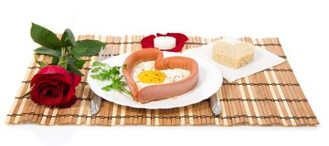 Breakfast for Valentine's Day Royalty Free Stock Photo