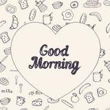 Breakfast vector background Stock Photo