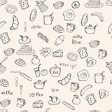 Breakfast vector pattern Royalty Free Stock Image