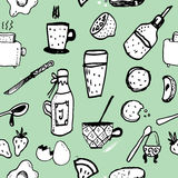 Breakfast vector seamless pattern Royalty Free Stock Image