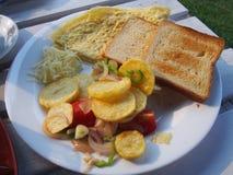 Breakfast. Vegetable and omelette Stock Image