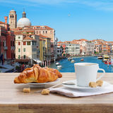 Breakfast at Venice, Italy Royalty Free Stock Photo
