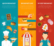 Breakfast Vertical Banners Set Royalty Free Stock Images