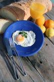 Breakfast a very Good breakfast. Breakfast table in the sun Stock Photography