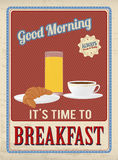 Breakfast vintage poster Royalty Free Stock Photo