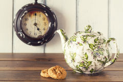Breakfast vintage. Tea Time Royalty Free Stock Images