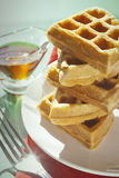 Breakfast waffles Royalty Free Stock Images