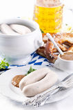Breakfast with weisswurst Stock Photos