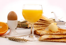 Breakfast on a white background Stock Images