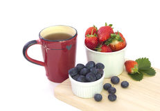 Breakfast on white Royalty Free Stock Photography