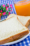 Breakfast. White toasted bread in basket. Stock Images