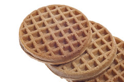 Breakfast Whole Wheat Waffles Royalty Free Stock Photography