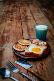 Breakfast on wood Royalty Free Stock Photos
