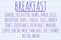 Breakfast word cloud Stock Photo