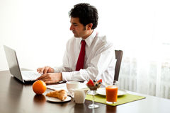 Breakfast before work Stock Image