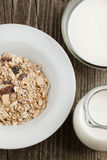 Breakfast with yoghurt and muesli Stock Photography