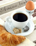 Breakfeast avec amour Photo stock