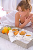 Breakfest in bed Royalty Free Stock Photography