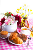 Breakfest with tea Royalty Free Stock Photography
