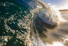 Breaking afternoon wave stock photos