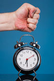 Breaking the alarm Royalty Free Stock Image