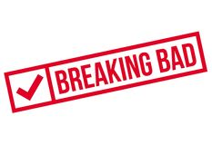 Breaking Bad rubber stamp Stock Photography