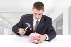 Breaking the Bank Stock Images