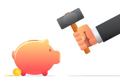 Breaking the Bank Royalty Free Stock Photos