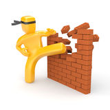 Breaking barriers Stock Images