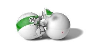 Breaking billiard ball Stock Photography