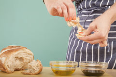 Breaking Bread Stock Photography