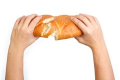 Breaking of bread Royalty Free Stock Image