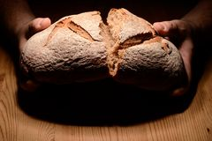 Breaking bread Stock Photos