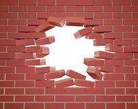 breaking brick wall Στοκ φωτογραφία με δικαίωμα ελεύθερης χρήσης