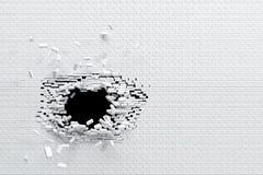 Breaking brick wall. High resolution 3d rendering vector illustration