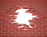 Breaking Brick Wall Royalty Free Stock Photography
