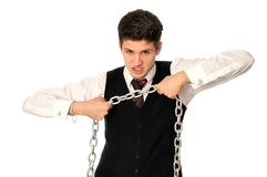 Breaking the chain Stock Image