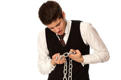 Breaking the chain Royalty Free Stock Images