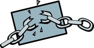 Breaking chain vector illustration. Vector illustration of a chain breaking Royalty Free Stock Photography