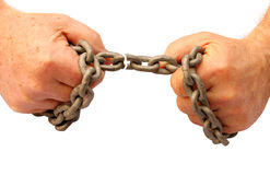 Breaking chains Stock Photos