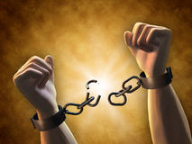Breaking chains Stock Image