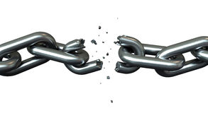 Breaking chains Royalty Free Stock Images