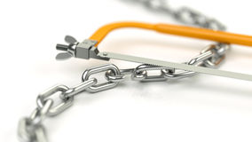 Breaking chains Royalty Free Stock Photos