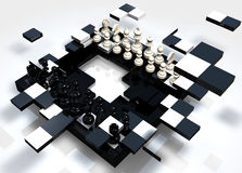 Breaking Chess Stock Photo