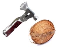 Breaking coconut Royalty Free Stock Photo