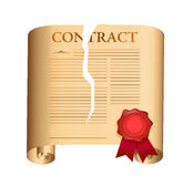 Breaking a contract. illustration design Royalty Free Stock Photos
