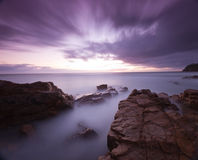 Breaking Dawn. The dawn breaking over the horizon at Coolum, Queensland Royalty Free Stock Images