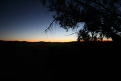 Breaking Dawn. Dawn breaking out past Mudgee in New South Wales Royalty Free Stock Photo